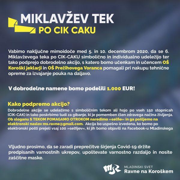 6. (dobrodelni) Miklavžev tek po CIK-CAKU